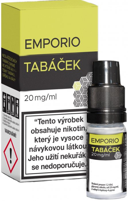 Liquid Emporio SALT Tobacco (Tabáček) 10ml - 20mg