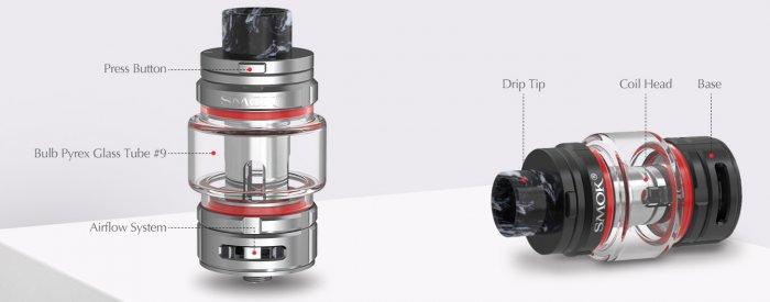 Smoktech TFV16 Tank clearomizer Silver