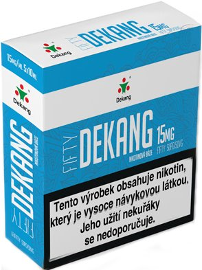 Nikotinová báze Dekang Fifty 5x10ml PG50-VG50 15mg
