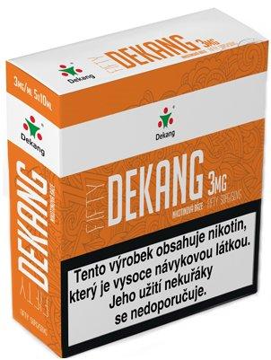 Nikotinová báze Dekang Fifty 5x10ml PG50-VG50 3mg