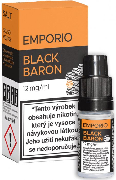 Liquid EMPORIO SALT Black Baron 10ml - 12mg