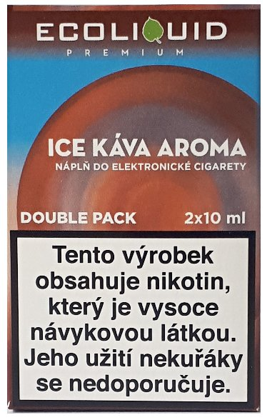 Liquid Ecoliquid Premium 2Pack Ice Coffee 2x10ml - 0mg