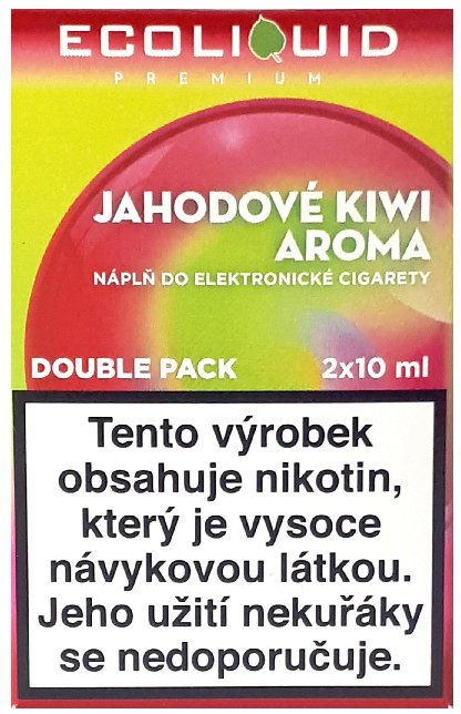 Liquid Ecoliquid Premium 2Pack Strawberry Kiwi 2x10ml - 0mg