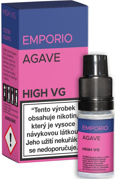 Liquid EMPORIO High VG Agave 10ml - 1,5mg