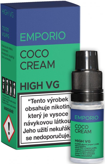 Liquid EMPORIO High VG Coco Cream 10ml - 3mg