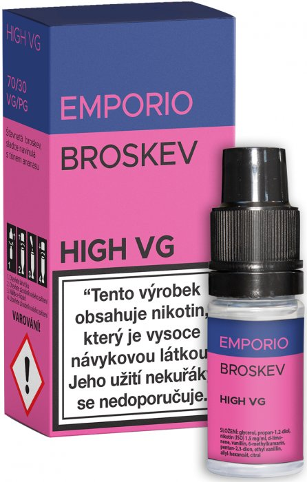 Liquid EMPORIO High VG Peach 10ml - 0mg