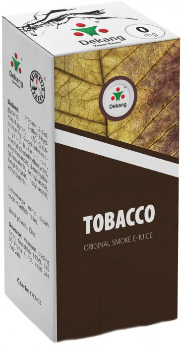 Liquid Dekang Tobacco 10ml - 0mg (tabák)