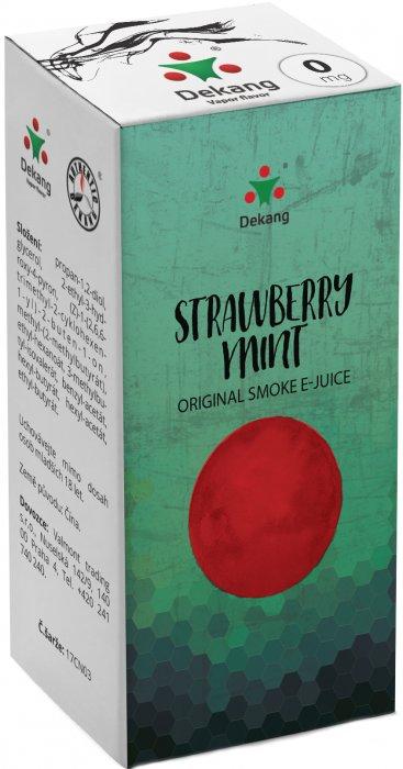 Liquid Dekang Strawberry mint 10ml - 0mg (Jahoda s mátou)