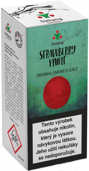 Liquid Dekang Strawberry mint 10ml - 16mg (Jahoda s mátou)