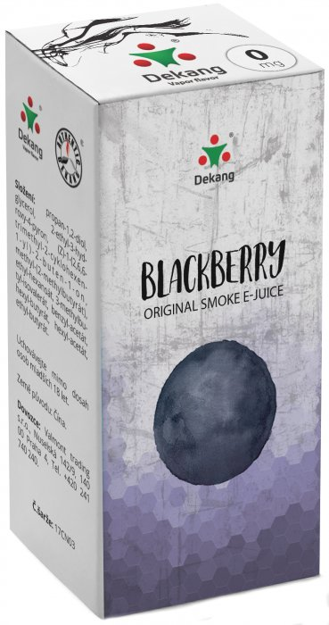 Liquid Dekang Blackberry 10ml - 0mg (Ostružina)