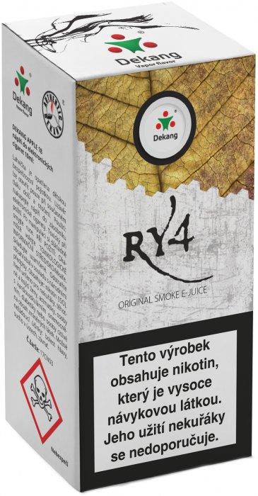 Liquid Dekang RY4 10ml - 16mg (směs karamelu, vanilky a tabáku)